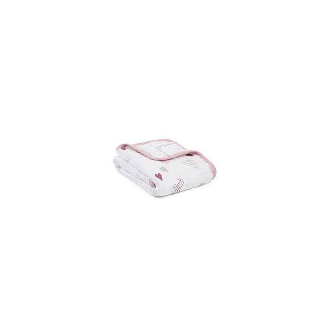 Aden + Anais - Classic Stroller Blanket Heart Breaker