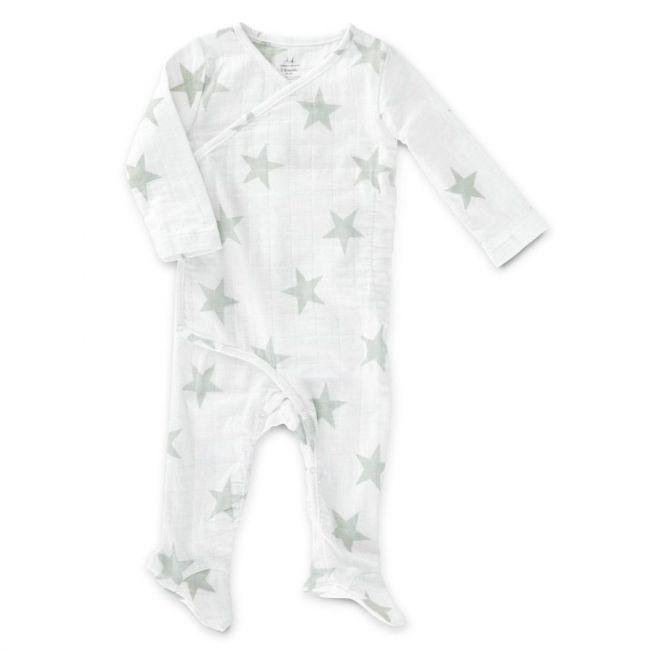 Aden + Anais - Long Sleeve Kimono One Piece Micro Chip Star 3 6 M