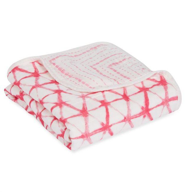 Aden + Anais - Silky Soft Stroller Blanket Berry Shibori