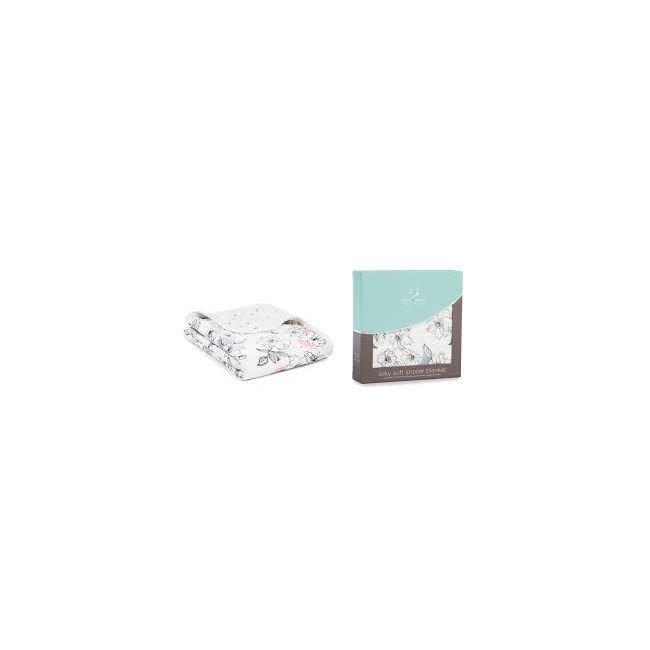 Aden + Anais - Silky Soft Stroller Blanket Meadowlark
