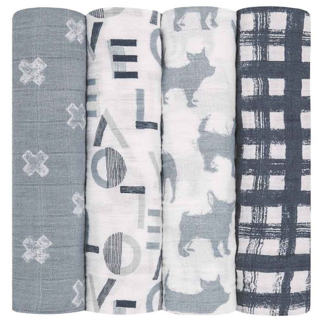 Aden + Anais - Classic 4 Pack Swaddles Waverly