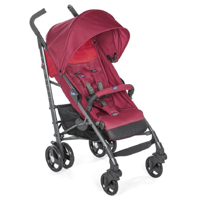 Chicco Red Berry Lite Way 3 Basic Stroller With Bumper Bar3