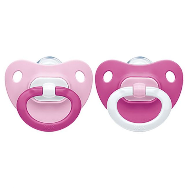 Nuk - Fashion Silicon Soother 6-18M Pack Of 2 - Pink