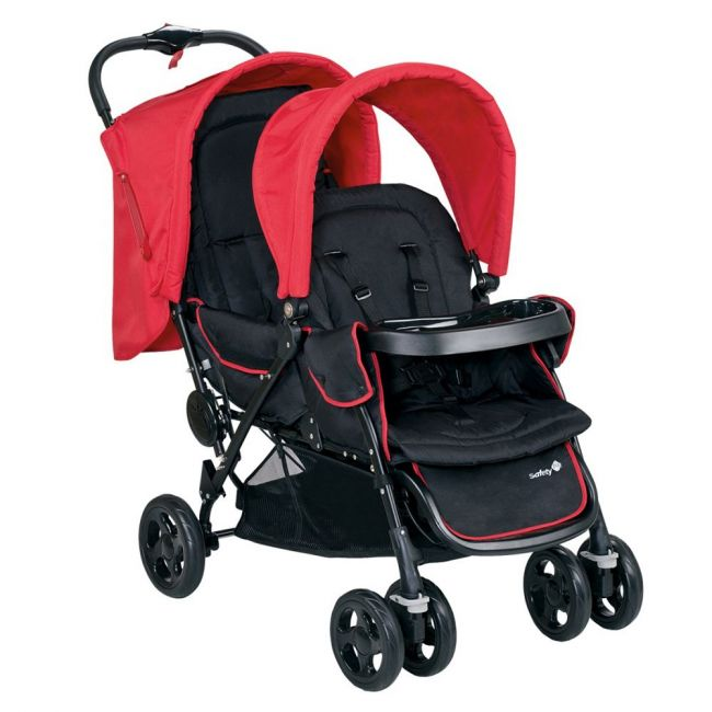 Safety 1st Plain Red Duodeal Tandem Stroller