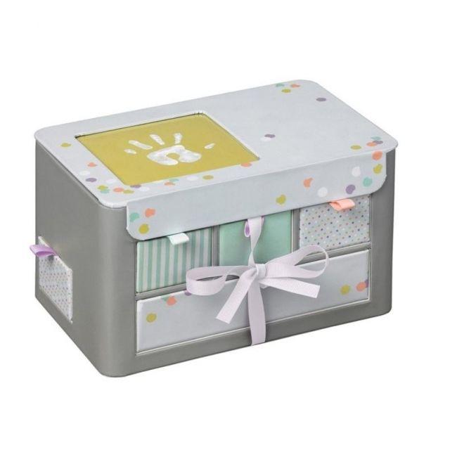 Baby Art Grey Treasures Box, Gift Set