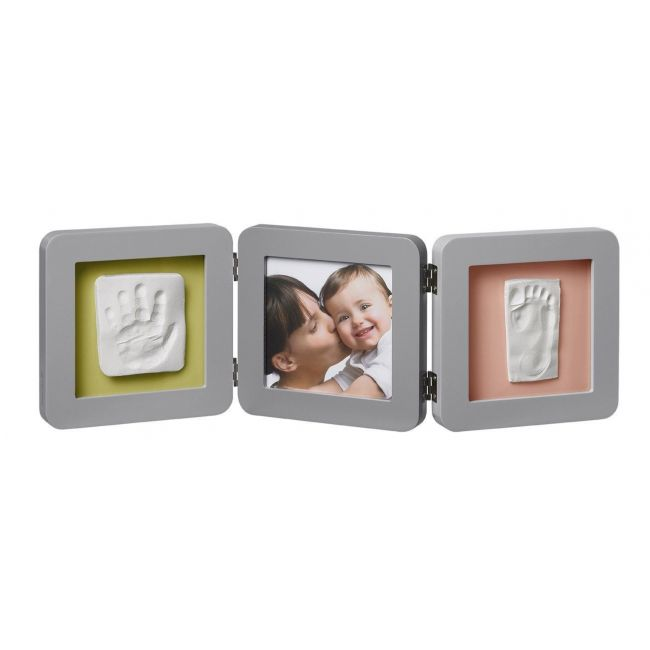 Baby Art, Double Print Frame Grey Babyroom
