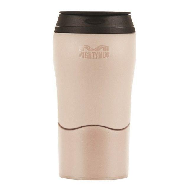 Mighty Mug Solo Plastic Cream