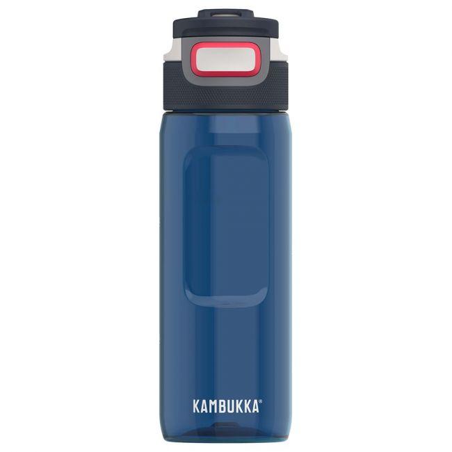Kambukka - Elton Bpa Free Water Bottle - 750 Ml - Midnight Blue - 3 In 1 Lid - Snapclean Technologie