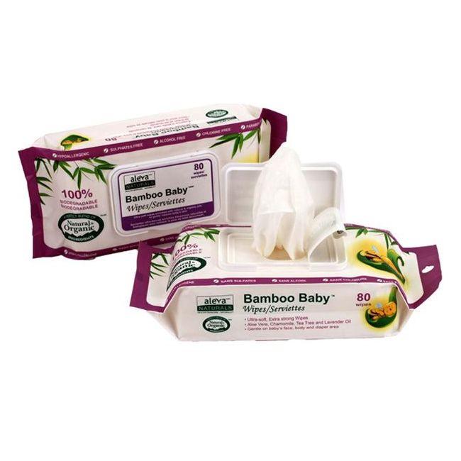 Aleva - Bamboo Baby Wipes - 80 pcs