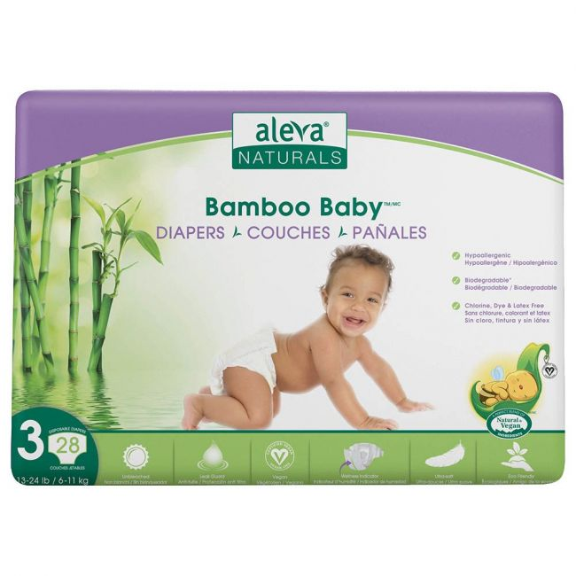 Aleva Naturals - Bamboo Baby Diapers Size 3 6-11kg 28pcs
