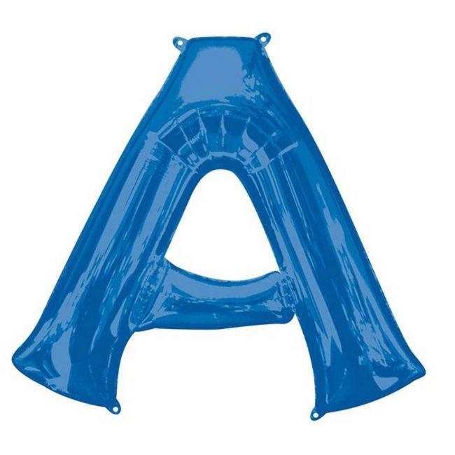 "Amscan - 16"" Blue Letter A Balloon"