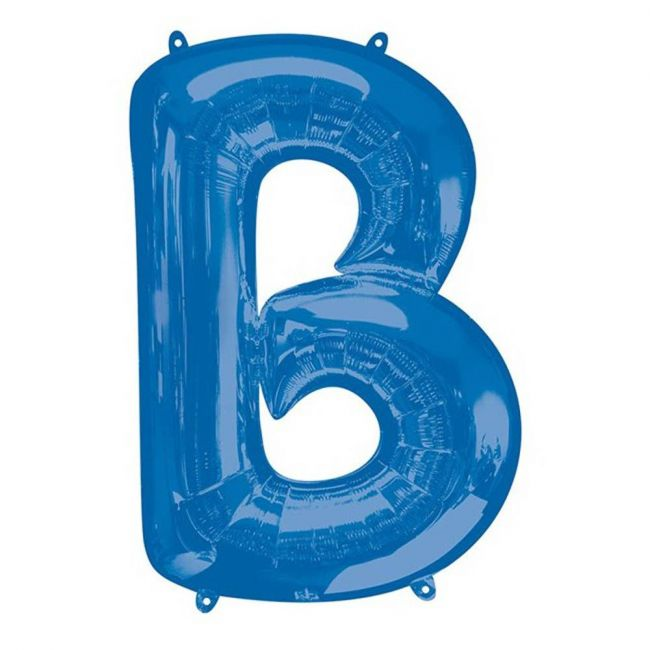 "Amscan - 16"" Blue Letter B Balloon"