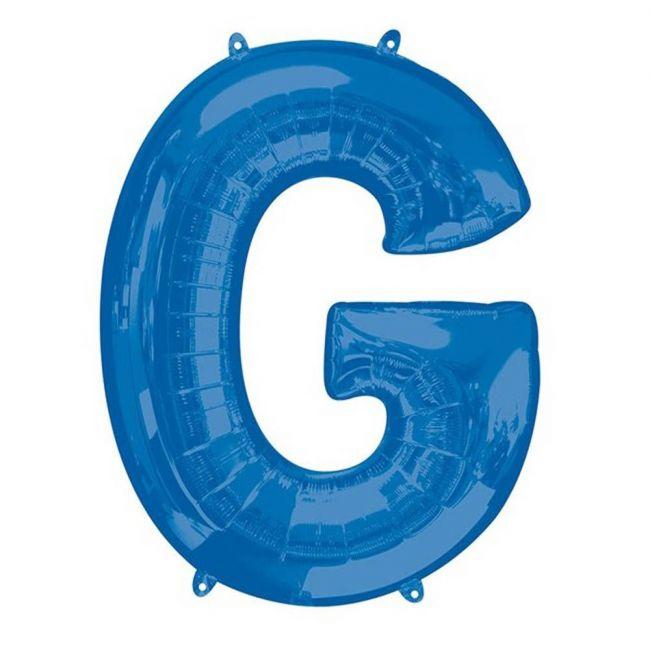 """Amscan - 16"""" Blue Letter G Balloon"""