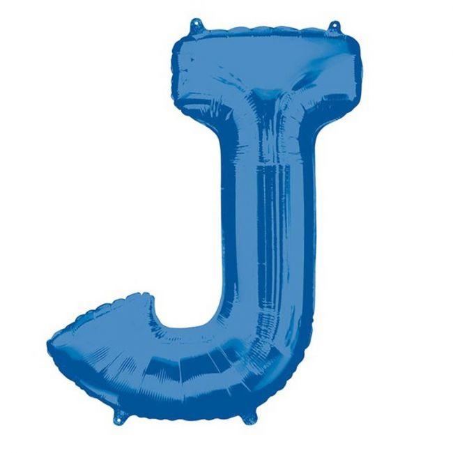 """Amscan - 16"""" Blue Letter J Balloon"""