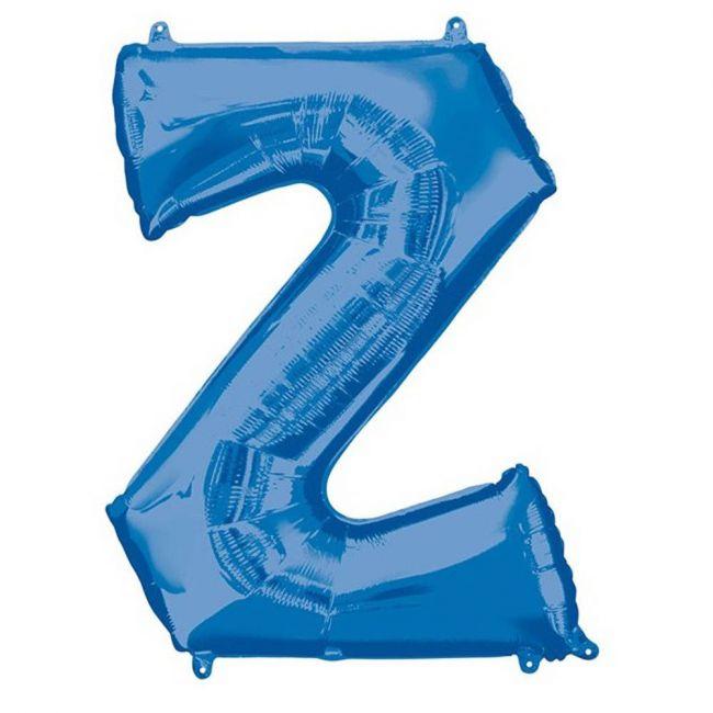 "Amscan - 16"" Blue Letter Z Balloon"