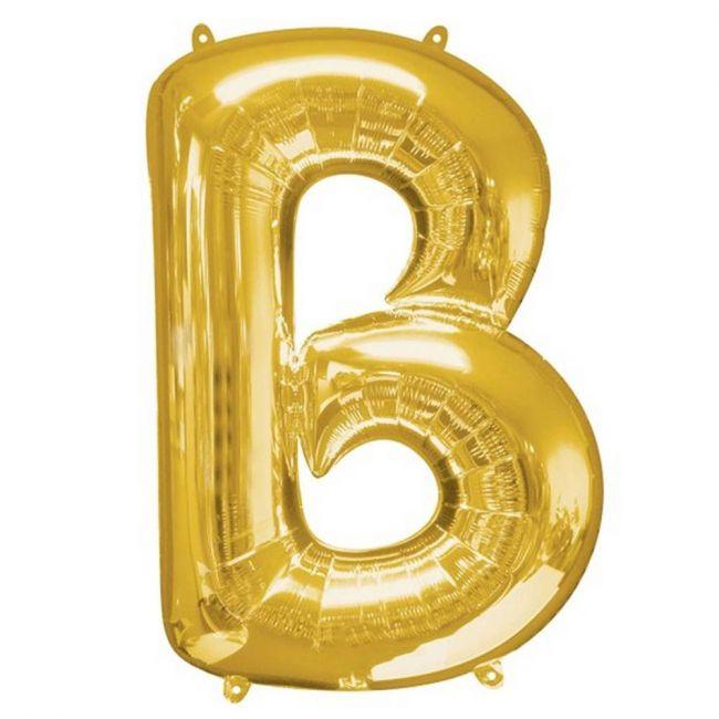 """Amscan - 16"""" Gold Foil Letter B Balloon"""