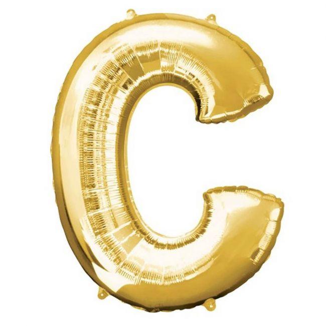 "Amscan - 16"" Gold Foil Letter C Balloon"