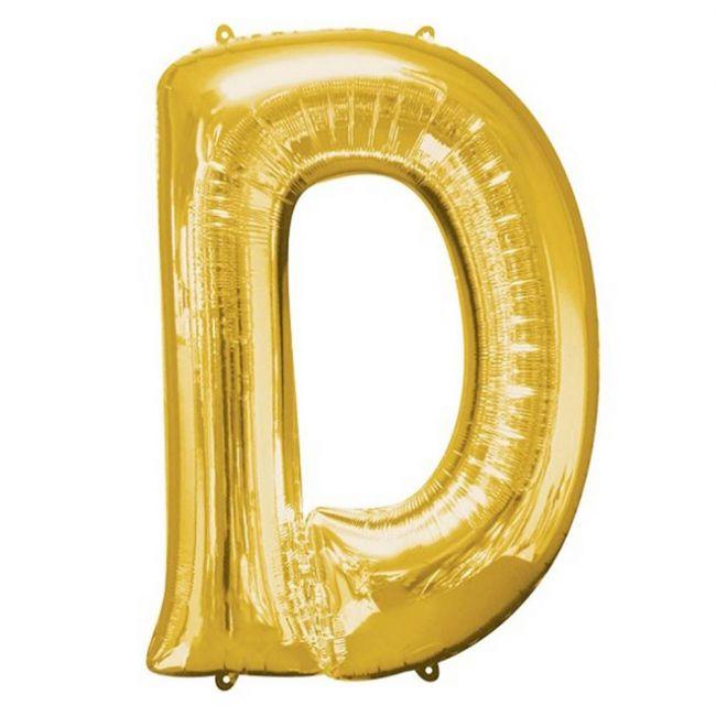 "Amscan - 16"" Gold Foil Letter D Balloon"