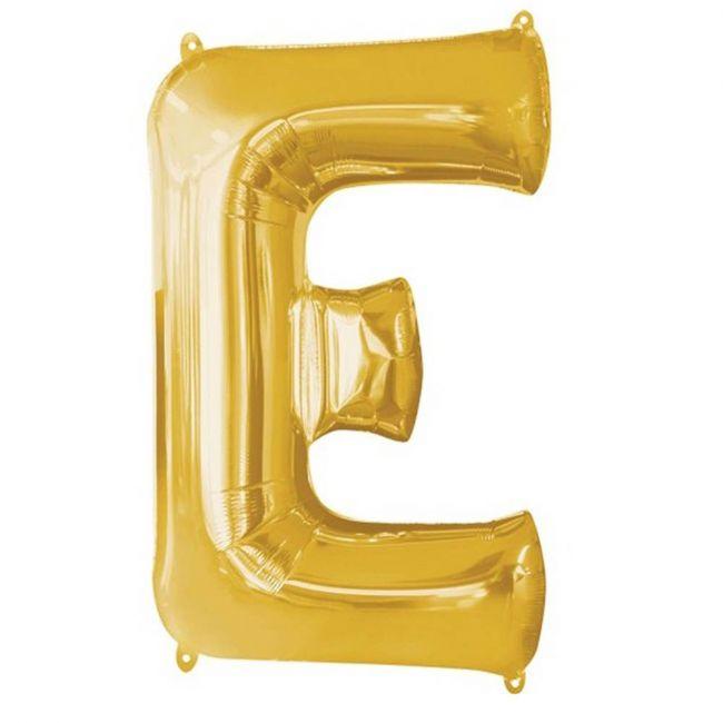 """Amscan - 16"""" Gold Foil Letter E Balloon"""