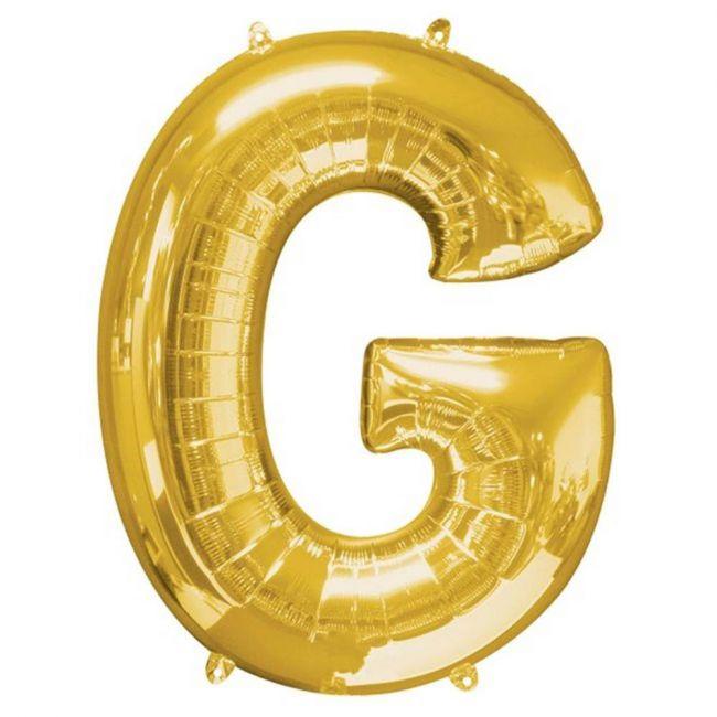 """Amscan - 16"""" Gold Foil Letter G Balloon"""