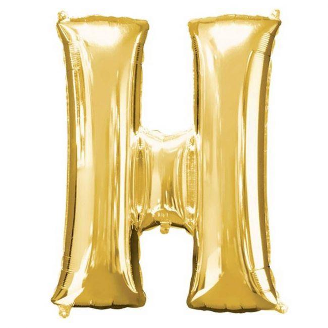 "Amscan - 16"" Gold Foil Letter H Balloon"