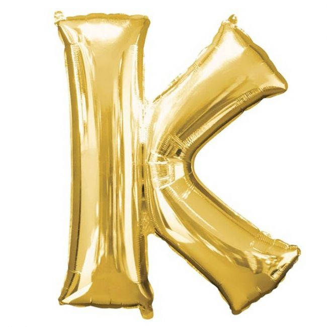 """Amscan - 16"""" Gold Foil Letter K Balloon"""