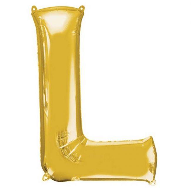"Amscan - 16"" Gold Foil Letter L Balloon"
