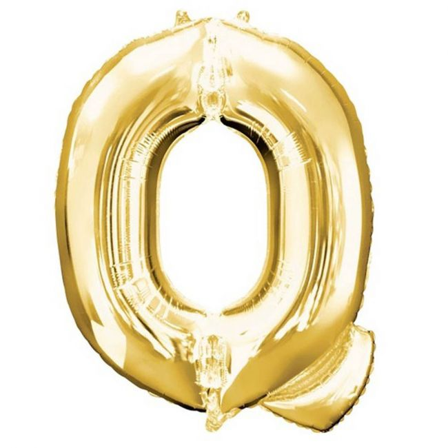 "Amscan - 16"" Gold Foil Letter Q Balloon"