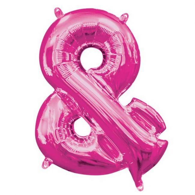 "Amscan - 16"" Pink ""&"" Shaped Balloon"