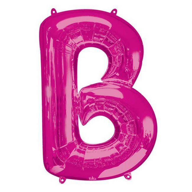 "Amscan - 16"" Pink Letter B Balloon"