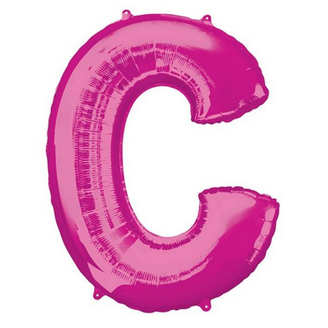"""Amscan - 16"""" Pink Letter C Balloon"""
