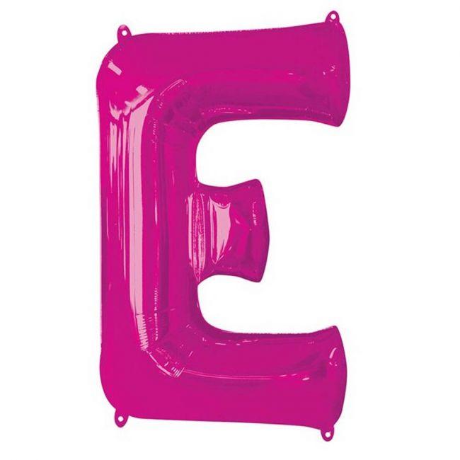"Amscan - 16"" Pink Letter E Balloon"