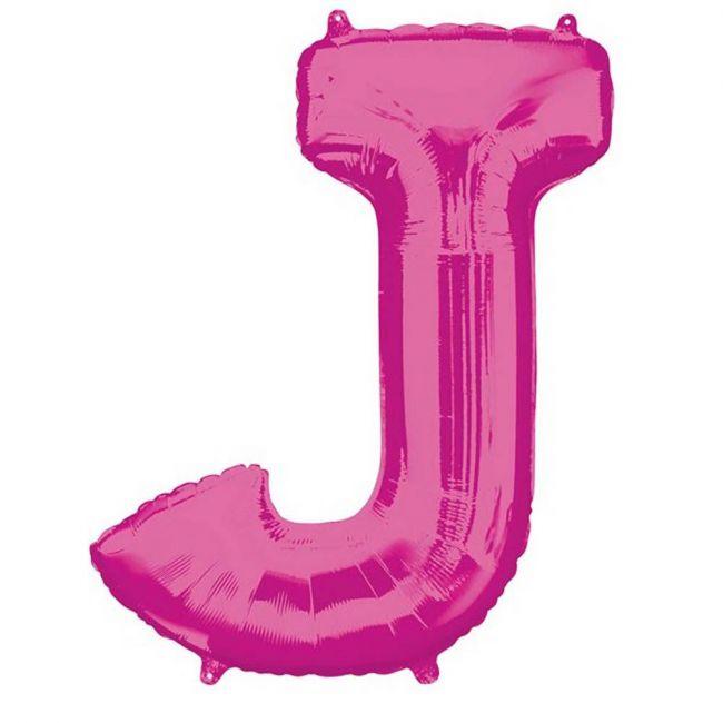 "Amscan - 16"" Pink Letter J Balloon"
