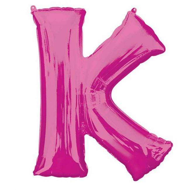 "Amscan - 16"" Pink Letter K Balloon"