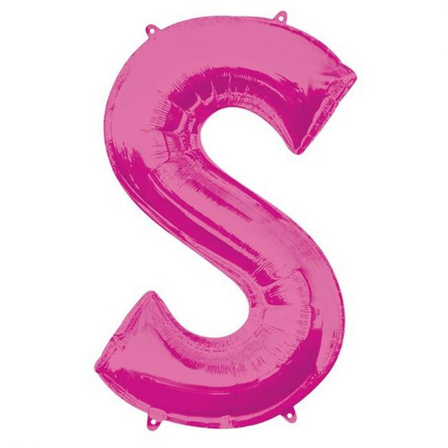 """Amscan - 16"""" Pink Letter S Balloon"""