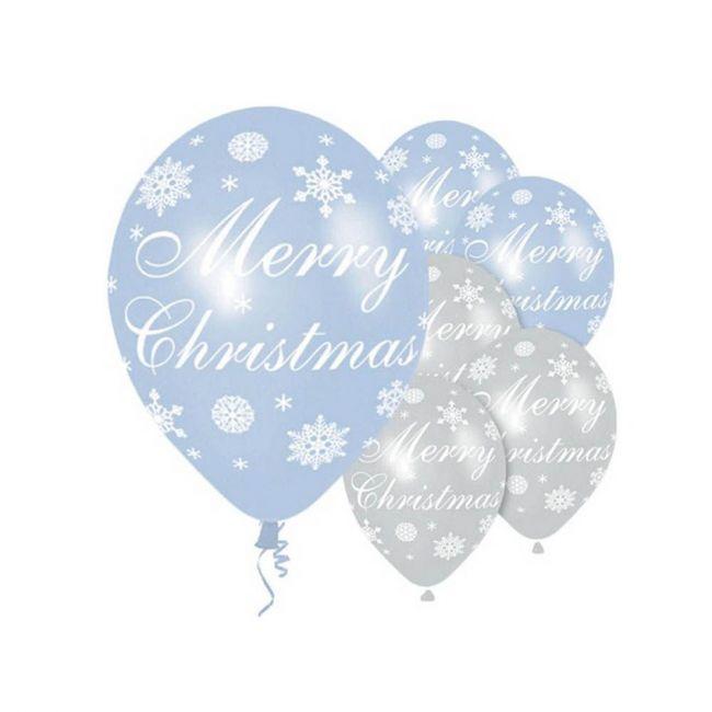 """Amscan - Merry Christmas"""" Snowflake Balloons - 11"""