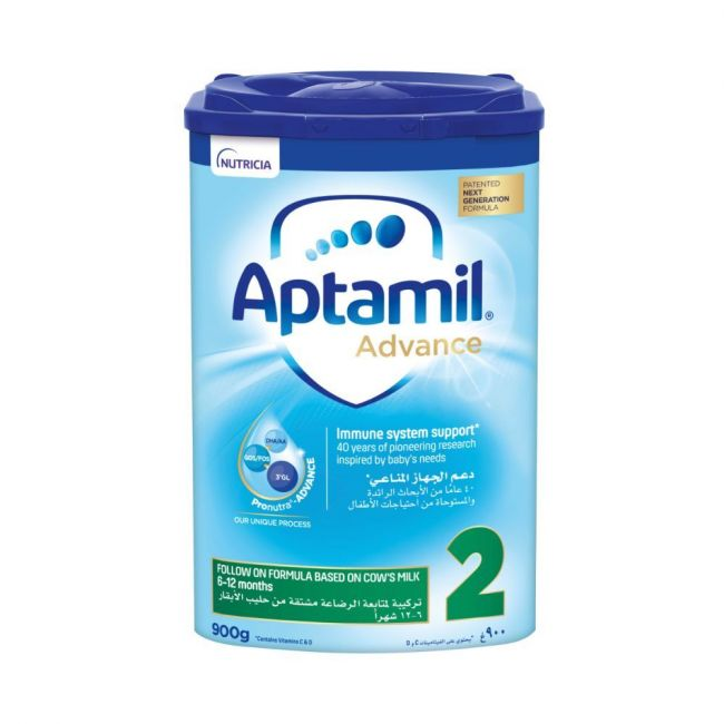 Aptamil - Advance 2 Next Generation Follow On Formula - 900g