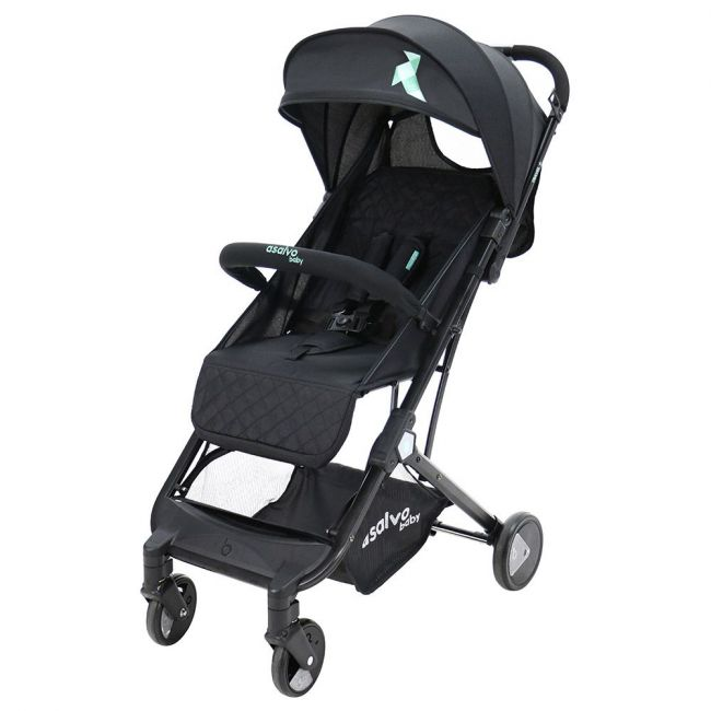 Asalvo - Stroller Travel + Black Aqua
