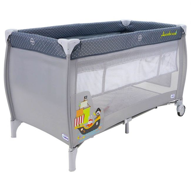 Asalvo - Travel Cot Smooth - Pirate Boat