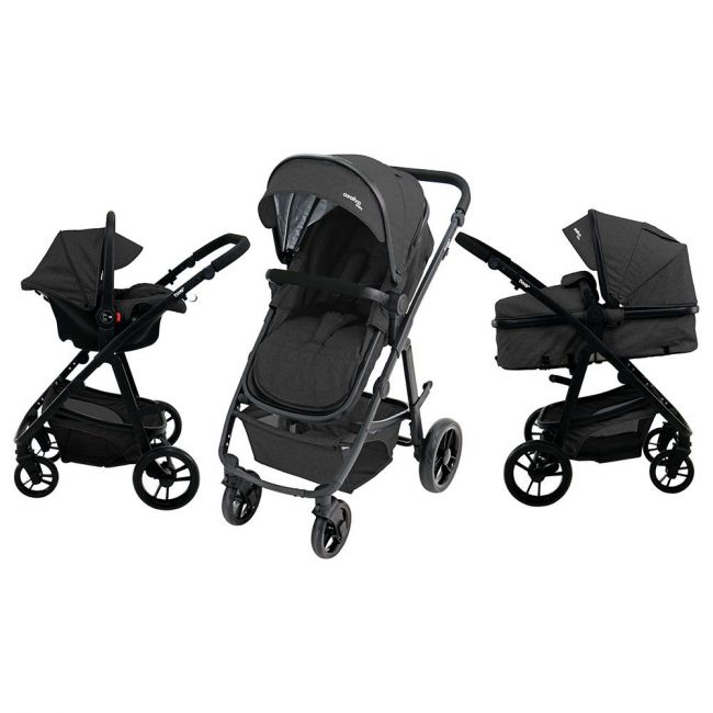 Asalvo - Travel System Complete - Convertible Two+ - Black