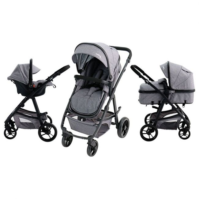 Asalvo - Travel System Complete - Convertible Two+ - Grey