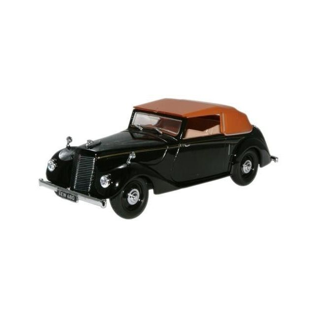 Oxford Black Diecast Armstrong Siddeley Hurricane Closed Toy Car