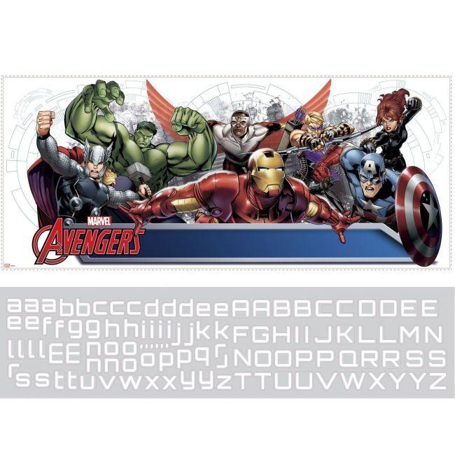 Room mates Avengers Assemble W/Pz Headboard