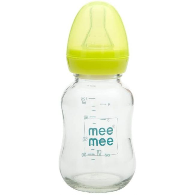 Mee Mee - Premium Glass Feeding Bottle 125ml - Green