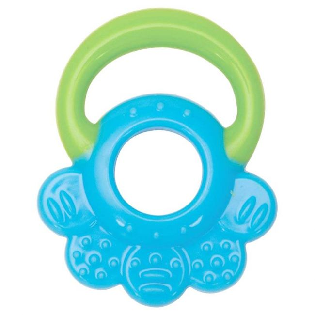 Mee Mee - Multi Textured Silicone Teether Single Pack Blue Green