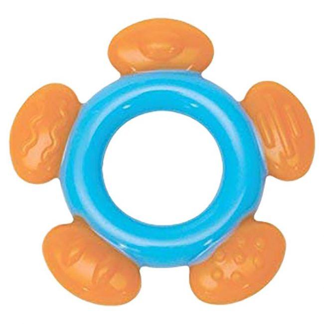 Mee Mee - Multi Textured Silicone Teether Single Pack Blue Orange