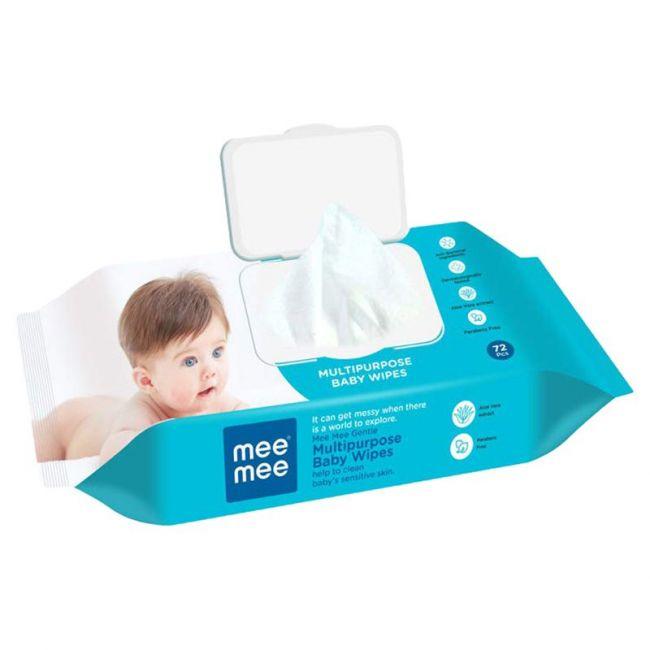 Mee Mee - Baby Wipes Gentle Multi Purpose 72 Pieces Single Pack
