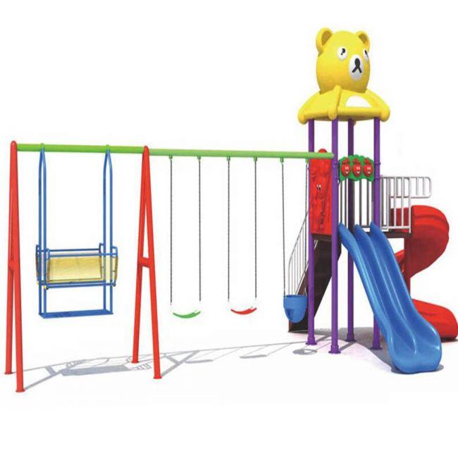 Megastar - Teddy Play And Swing And Curvy Slide Play Set