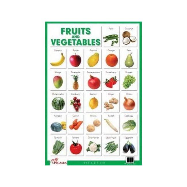 B Jain Publishers - B Jain Educational Chart Fruits And Veget