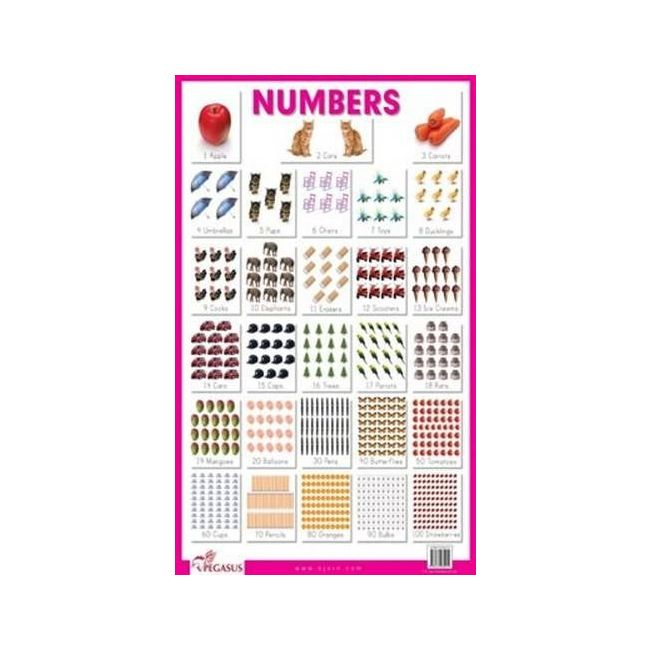 B Jain Publishers - B Jain Educational Chart Numbers